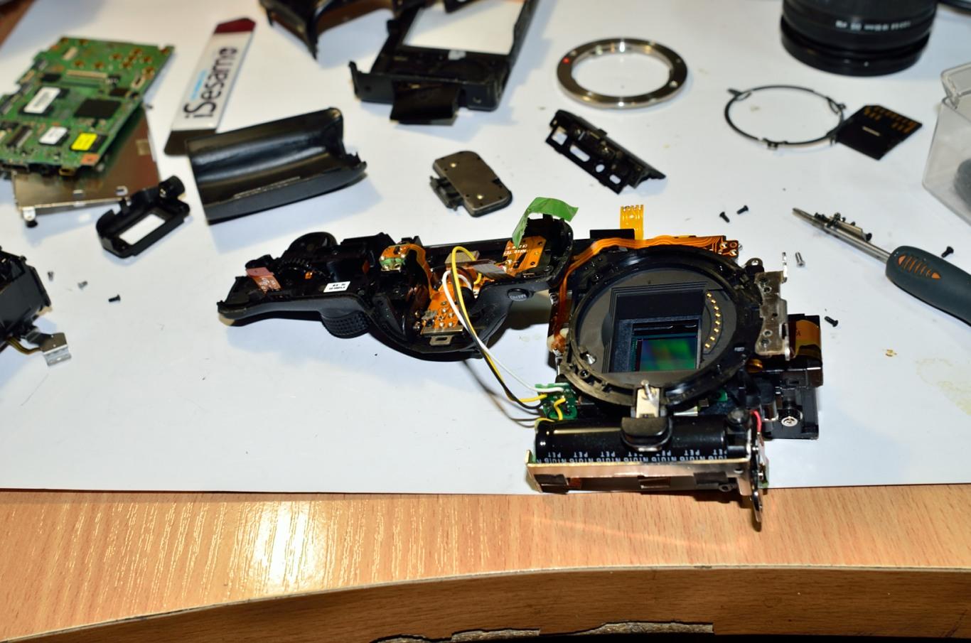 Ремонт камеры сони своими руками 26