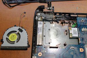 фото ремонт кулера ноутбука